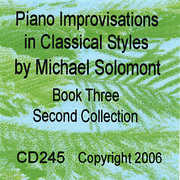 Piano Improvisations in Classical Styles - Book Three - Second Collection (CD) at Sears.com