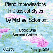 Piano Improvisations In Classical Styles By Michael Solomont - Book One - Second Collection (CD) at Sears.com