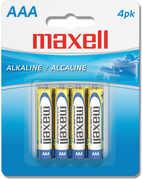 "Maxell ""Aaa"" Alkaline Battery-4Pk Blister(Lr03)"