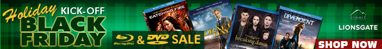 Blu-ray and DVD Black Friday holiday sale by Lions Gate for a limited time