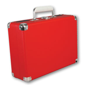 red - vinyl styl turntable