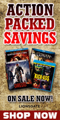 Action DVDs and Blu-ray movies on sale for a limited time.