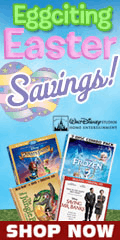 Family movies on sale during Easter by Walt Disney Video for a limited time