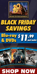 20th Century FOX Black Friday Savings $11.99 and Under  Blu-ray and DVD sale for a limited time