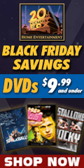 20th Century FOX Black Friday Savings $9.99 and Under DVD sale for a limited time