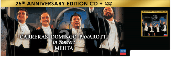 PAVAROTTI / DOMINGO / CARRERAS / MEHTA / THREE TENORS 25TH ANNIVERSARY (W/DVD) (LTD)
