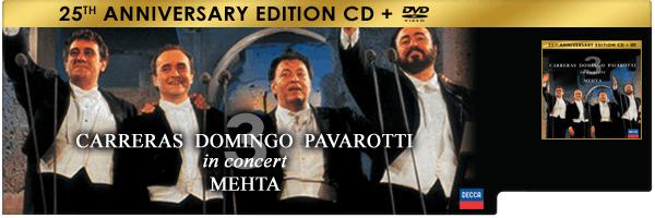PAVAROTTI / DOMINGO / CARRERAS / MEHTA / THREE TENORS 25TH ANNIVERSARY (W/DVD) (LTD)