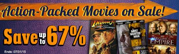 Action Packed Movies on Sale
