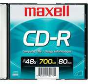 Maxell CR-R 700MB Recordable Data Cd's-Single-Slim Case