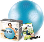 Stability Ball 55CM Kit - Blue (W/ DVD)