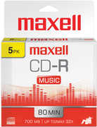 Maxell CD-R 80 Gold Recordable Music CD'S-5PK