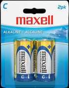 """Maxell """"C"""" Alkaline Battery-2 PK Blister(Lr14)"""