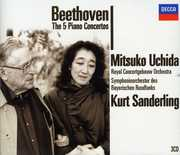 Beethoven: The 5 Piano Concertos , Uchida / Beethoven / CGB / Sanderling