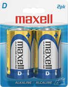 """Maxell """"D"""" Alkaline Battery-2 PK Blister(Lr20)"""
