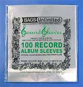 "Bags Unlimited SLPSR3 12""Poly Resealable Album Sleeves-3 mil-100ct"