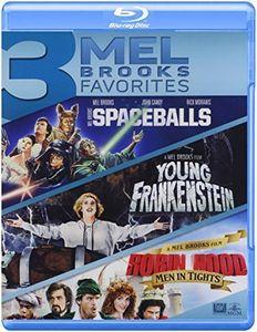 3 Mel Brooks Favorites: Spaceballs / Young Frankenstein / Robin Hood: Men In Tights (Blu-ray) (Widescreen)