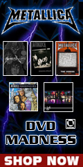 Metallica DVD Madness Sale