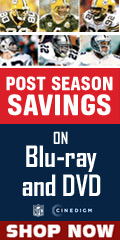 NFL Post Season Blu-ray and DVD Savings