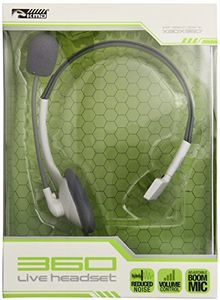KMD Live Chat Headset with Mic: White for Xbox 360 -  2122033
